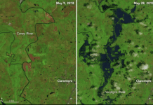NASA Oklahoma Flooding Images